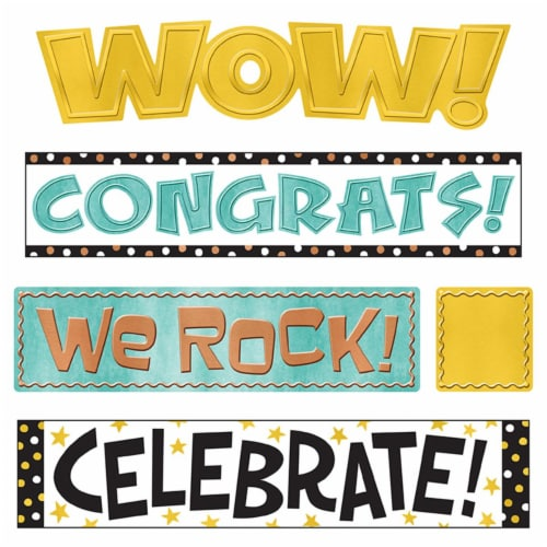 I ♥ Metal WipeOff® Celebration Signs Mini Bulletin Board Set Perspective: front