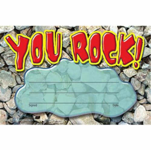 Trend Recognition Awards, You Rock, 8.5w by 5.5h, 30/Pack T81401 Perspective: front