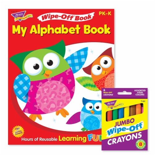 My Alphabet Book and Crayons Reusable Wipe-Off® Activity Set Perspective: front