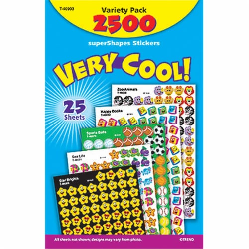 Very Cool! superShapes Stickers Variety Pack, 2500 ct Perspective: front