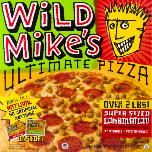 Wild Mike's Ultimate Super Sized Combination Pizza Perspective: front