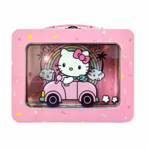 Tin Box Company Hello Kitty Tin Lunchbox with Window Perspective: front