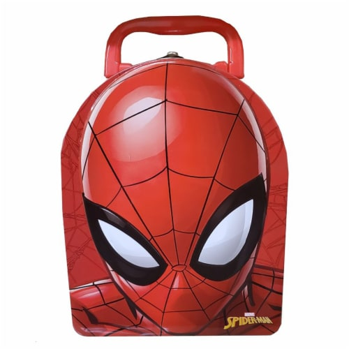 Tin Box Company Spider-Man Head Arch Lunch Box Perspective: front