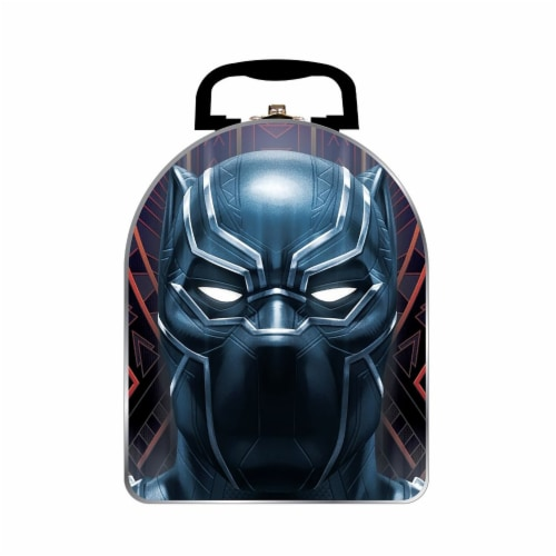 Tin Box Company Black Panther Helmet Arch Lunch Box Perspective: front