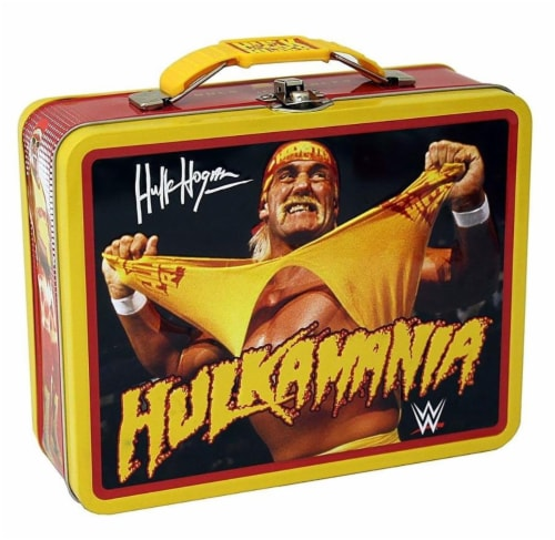 WWE Hulk Hogan Tin Lunch Box Perspective: front