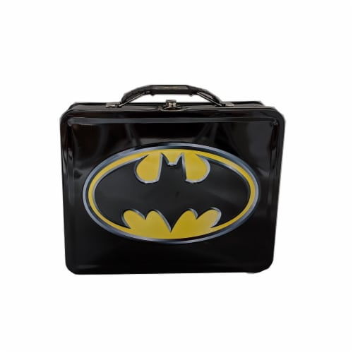Batman Emblem Metal Tin Lunch Box Perspective: front