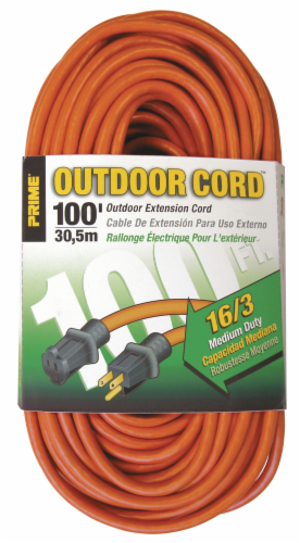 Prime Outdoor 100-Foot Extension Cord Perspective: front