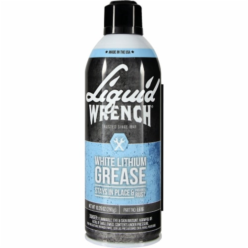 Liquid Wrench 10.25 Oz. Aerosol White Lithium Grease L616 Perspective: front