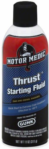 Motor Medic Thrust® Starting Fluid for Gas and Diesel Engines Perspective: front