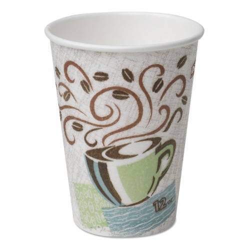 Hot Cups Paper 10OZ Coffee Dreams Design 25 Per Pack | 1 Pack of: 25 Perspective: front