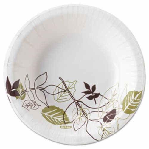 Dixie SXB12WS Pathways Heavyweight Paper Bowls, WiseSize, 12 oz, Green-Burgundy, 500-Ctn Perspective: front