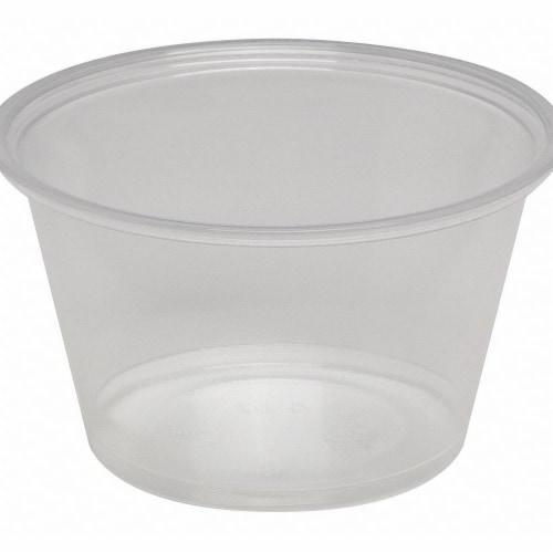 Dixie Portion Cup,4 oz.,Plastic,PK2400 HAWA PP40CLEAR Perspective: front