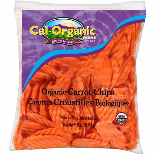 Cal-Organic Carrot Chips Perspective: front