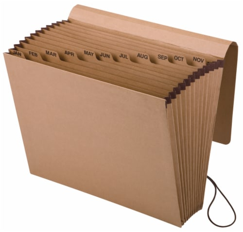 Pendaflex Essentials January-December 12-Pocket Expanding File - Brown Perspective: front