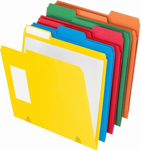 Pendaflex Presentation Letter Size 3-Tab File Folder - 15 Pack - Assorted Colors Perspective: front