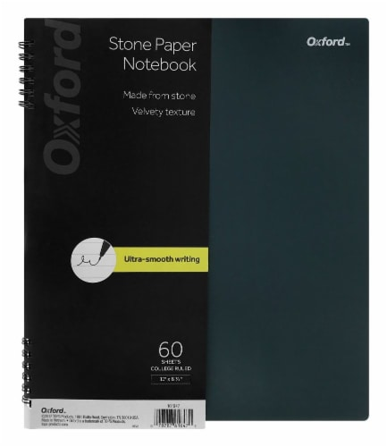 Oxford® Stone Paper Notebook - Gray Perspective: front