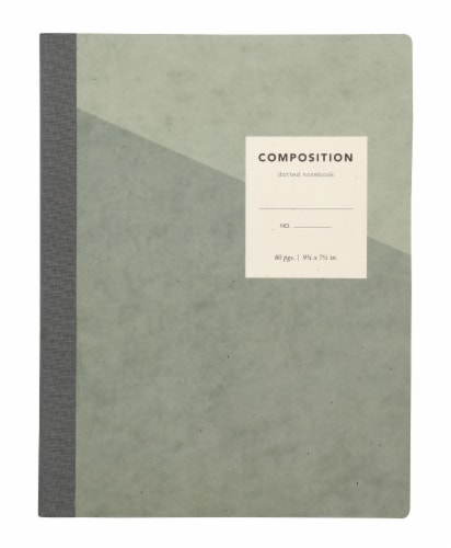 Oxford® Dotted Composition Book - Grey Perspective: front