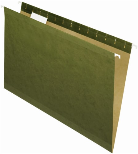 Pendaflex Essentials Legal Size Reinforced 5-Tab Hanging File Folder - 25 Pack Perspective: front