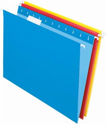 Pendaflex Essentials Letter Size 5-Tab Hanging File Folder - 20 Pack - Assorted Colors Perspective: front