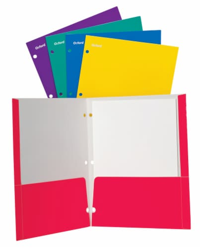 Oxford® Brights Letter Size Twin Pocket Folder - Assorted Perspective: front