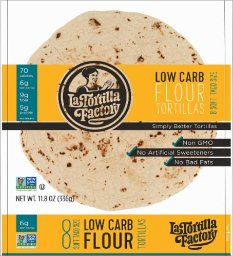 La Tortilla Factory Low Carb Flour Tortilla Factorys 8 Count Perspective: front