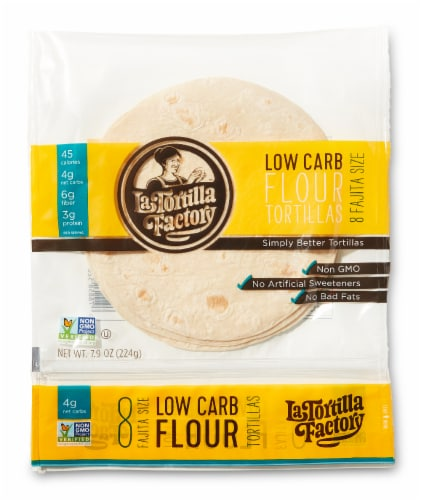 Low Carb Flour Fajita Tortillas Perspective: front