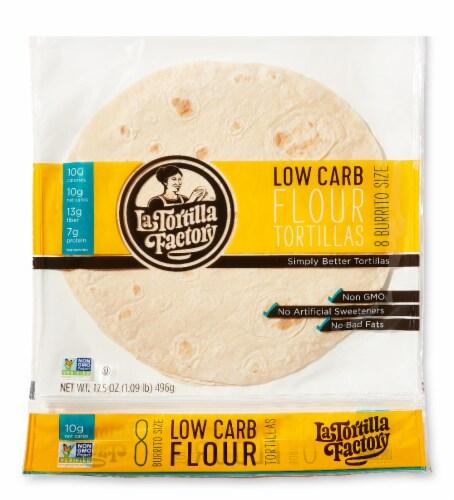 Low Carb Flour Burrito Tortillas Perspective: front