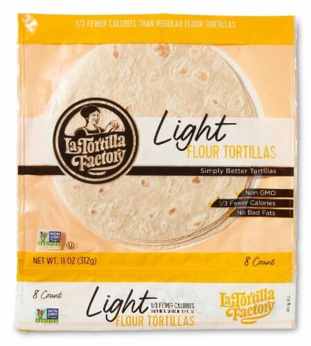 La Tortilla Factory Light Flour Tortillas Perspective: front