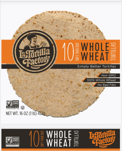 La Tortilla Factory Soft Taco Size Whole Wheat Tortillas Perspective: front