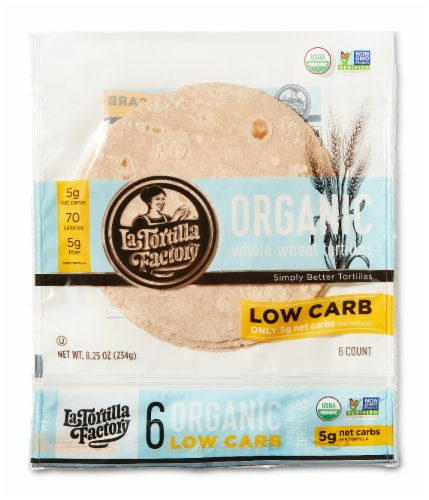 Organic Low Carb Whole Wheat Tortillas Perspective: front