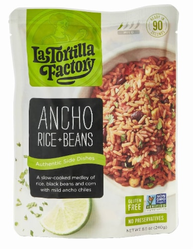 Ancho Rice and Beans Side Dish Perspective: front