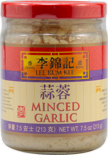 Lee Kum Kee Minced Garlic Perspective: front