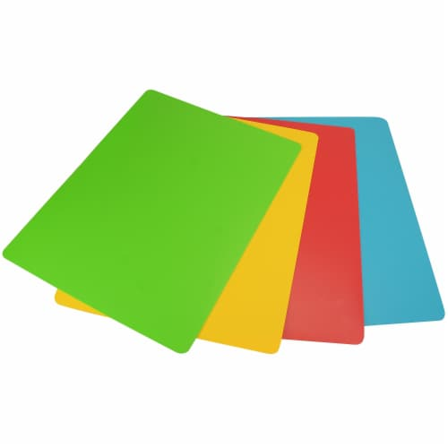 Progressive PCC404 Flexible Chopping Mats - Assorted Color, Set of 4 Perspective: front