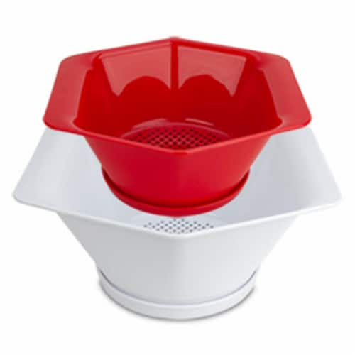Progressive PS-9028 1.5 - 3 qt. Prep Solutions by Drip & Catch Colanders - Set of 2 Perspective: front