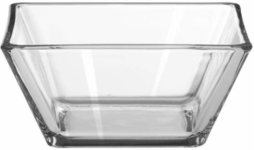Libbey Tempo Square Bowl - Clear Perspective: front