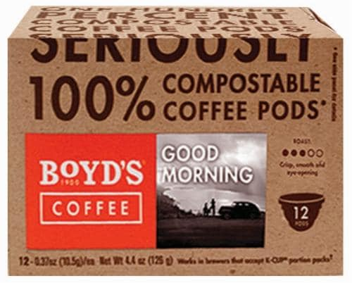 Boyd's Coffee Good Morning Coffee Single Serve Cups Perspective: front