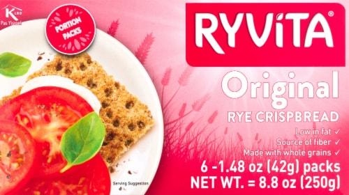 Ryvita Dark Rye Whole Grain Rye Crispbread Perspective: front