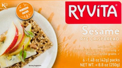 Ryvita Sesame Rye Whole Grain Rye Crispbread Perspective: front