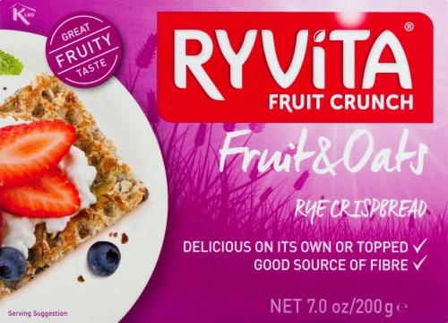 Ryvita Fruit Crunch Fruit & Oats Rye Crispbread Perspective: front