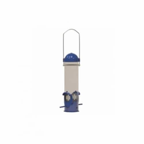 Woodstream 2 Port Dried Mealworm Tube Bird Feeder Perspective: front