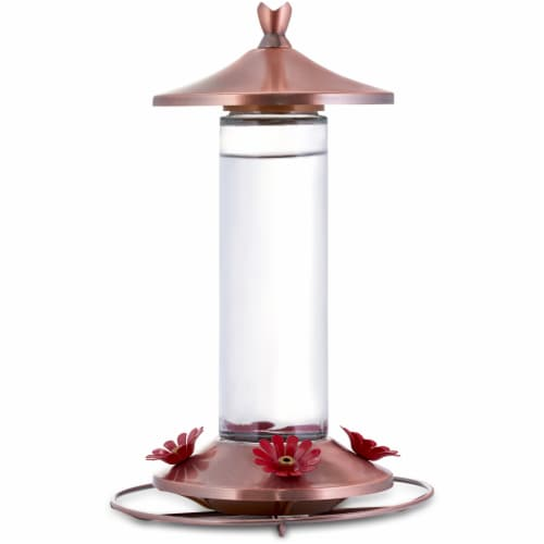 Woodstream Copper Hummingbird Feeder - Brown Perspective: front
