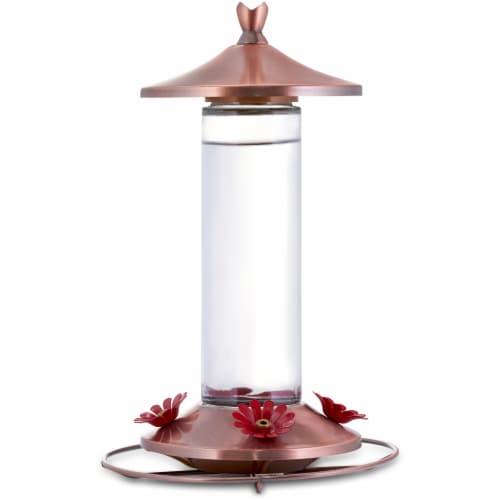 Woodstream Copper Hummingbird Feeder Perspective: front