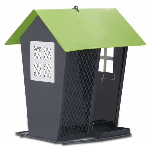 Woodstream Seed Duo Wild Bird Feeder, Gray Perspective: front