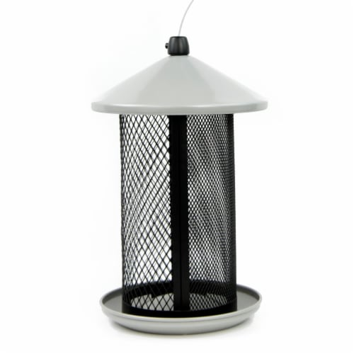 Perky-Pet Dual Mesh Seed Feeder - Black/White Perspective: front