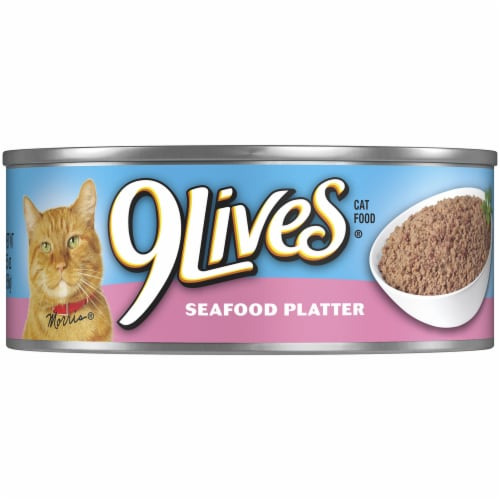 9Lives Seafood Platter Moist Cat Food Perspective: front