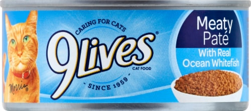 9Lives® Ocean Whitefish Dinner Moist Cat Food Perspective: front