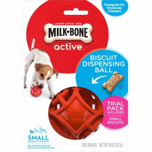 Milk Bone Active Biscuit Dispensing Ball Perspective: front