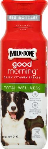 Milk Bone Good Morning Total Wellness Daily Vitamin Dog Treats Perspective: front