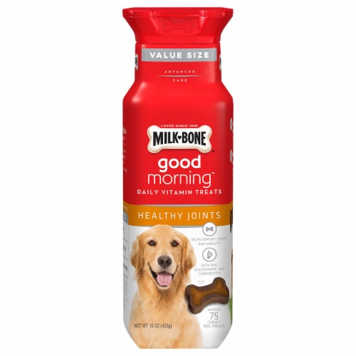 Milk-Bone Good Morning Healthy Joints Daily Vitamin Treats Perspective: front