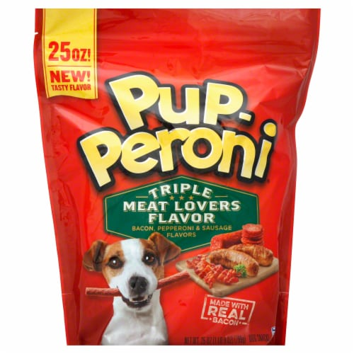 Pup-Peroni Triple Meat Lovers Flavored Dog Snacks Perspective: front